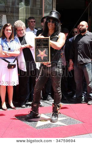 LOS ANGELES - JUL 9:  Slash at the Hollywood Walk of Fame Ceremony for Slash at Hard Rock Cafe at Hollywood & Highland on July 9, 2012 in Los Angeles, CA