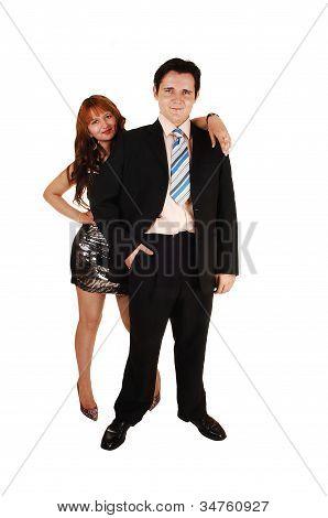 junges Paar stehen.