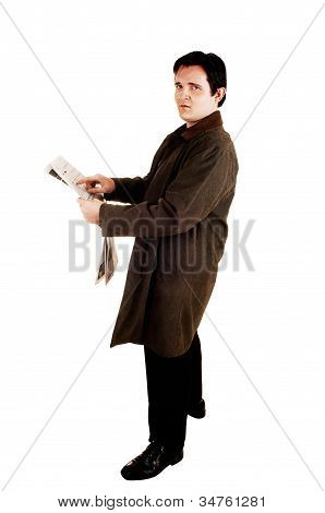 Guy With Newspaper.