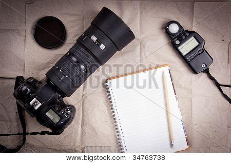 Fondo de cámara de fotografía