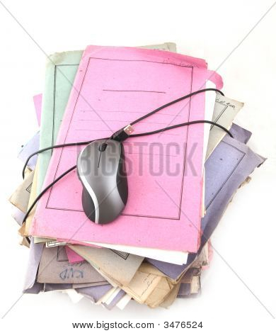 Folders With Computer Mouse