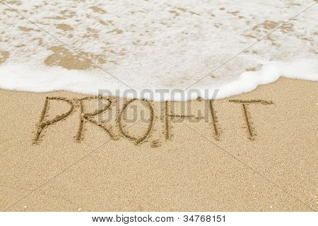 Word Profit On The Sand