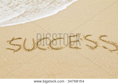 Word Success On The Sand