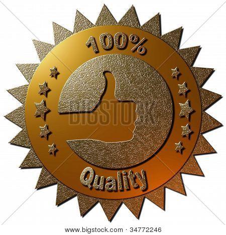 100 % Qualität (Gold)