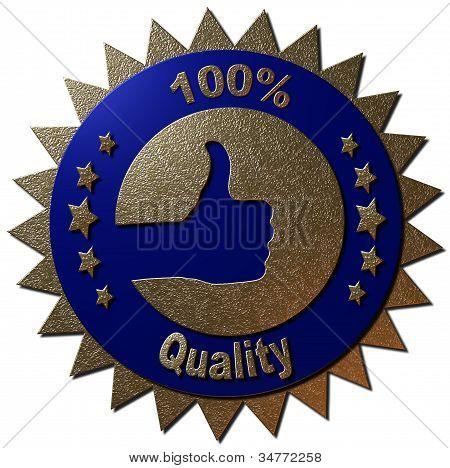 100 % Qualität (blau)