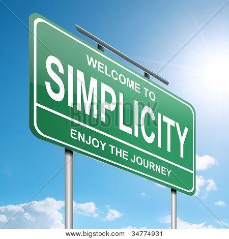 Einfachheit-Konzept.