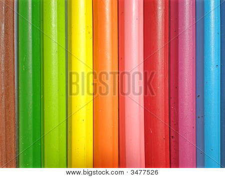 Colorful Crayons Back To School Concept