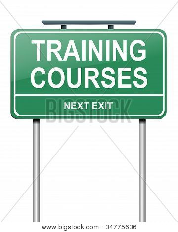 Training Courses Concept.