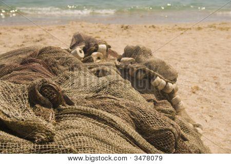 Fishing Nets On Beach