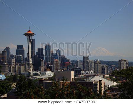 Seattle Skyline Original Orange
