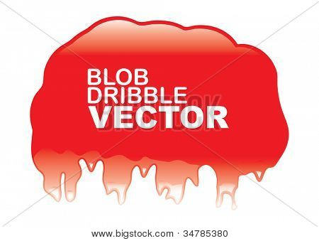 Abstract red blob with light reflection and copy space