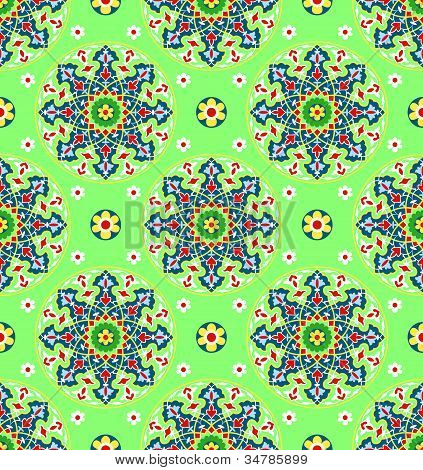 Green Islamic Pattern