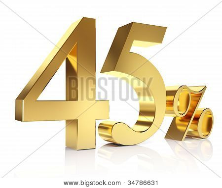 Forty five percent 3D in gold
