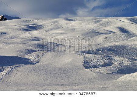 Ski Slope In Evening