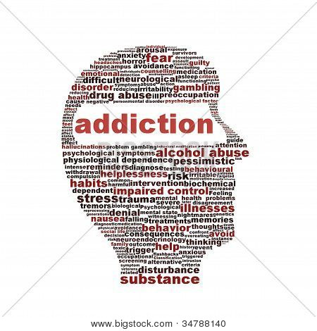 Addiction symbol isolated on white