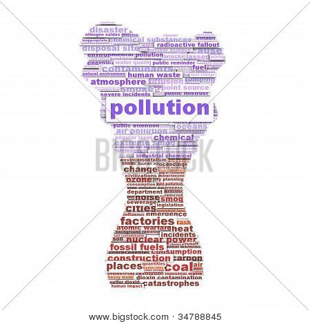 Pollution symbol conceptual design