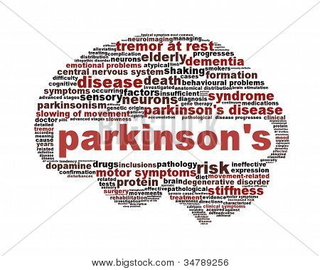 Parkinson's disease symbol isolated on white