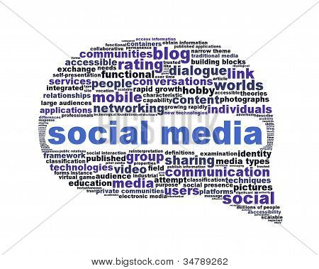 Social media symbol isolated