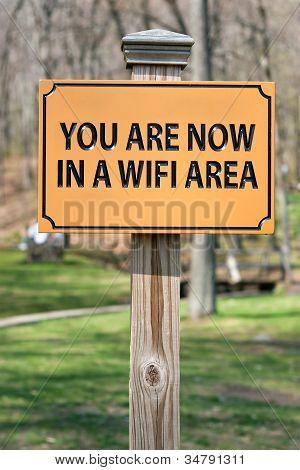 WiFi Hotspot Schild
