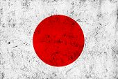 pic of frazzled  - Grunge Dirty and Weathered Japanese Flag Old Metal Textured - JPG
