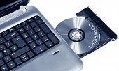 stock photo of cybercrime  - Copyright concept with CD - JPG