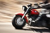 foto of chopper  - Abstract slow motion - JPG