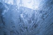 Frost On A Car Window. Drawing On Glass From Ice. Cold Winter. Frost poster