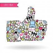pic of like_a_person  - Like sign made with social media icons - JPG