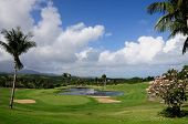 pic of conquistadors  - View of the 18 hole golf course found in El Conquistador hotel Fajardo Puerto Rico - JPG