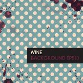 pic of boose  - Wine rings on vintage tableclotch - JPG