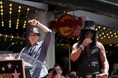 LOS ANGELES - JUL 9:  Charlie Sheen, Slash at the Hollywood Walk of Fame Ceremony for Slash at Hard