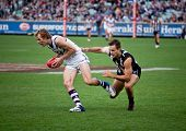 MELBOURNE - JUNE 30 : David Mundy with the ball during Collingwood's win over Fremantle on June 30,