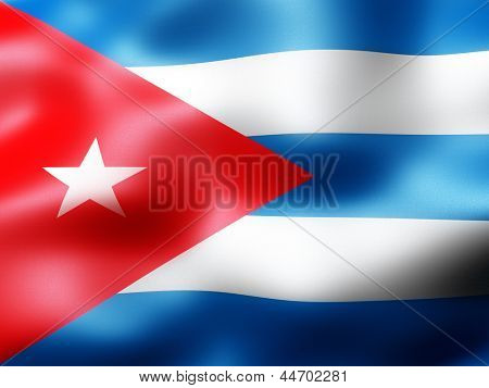 Cuba country flag 3d illustration