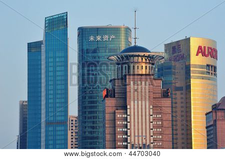 SHANGHAI, CHINA - JUNE 2: Urban architectures with city skyline on June 2, 2012 in Shanghai, China. Shanghai is the largest city by population in the world with 23 million as in 2010.