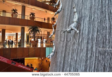 DUBAI, UAE - OCTOBER 23: Interior View of Dubai Mall - world's largest shopping mall based on total area and sixth largest by gross leasable area, October 23, 2012 in Dubai, United Arab Emirates
