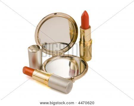 Lipsticks And Mirror