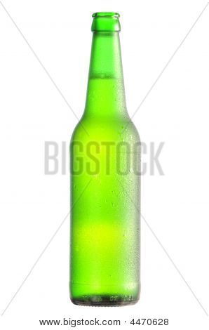 Open Lager Beer Bottle