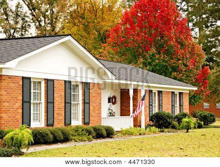 Casa de fazenda no Outono