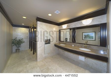 Washroom In An Office Building