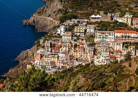 Traditional Village Of Riomaggiore In Cinque Terre, Italy