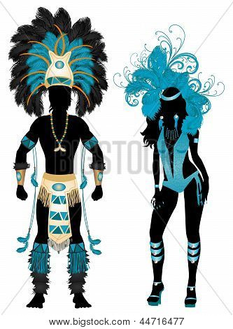 Carnival Blue Couple