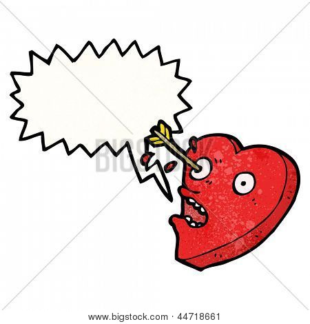love struck heart cartoon character