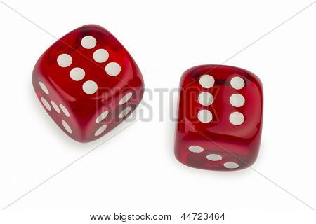 red cube, symbol photo for gambling, risk and gambling addiction