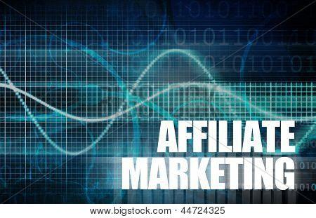 Affiliate Marketing to Make Money Online Concept