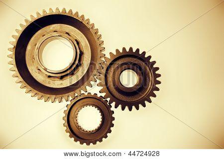 Metal cog gears bonding together