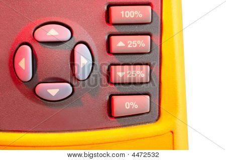 Joystick And Percent Keys Of Calibrator