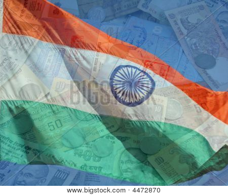 India Flag And Money