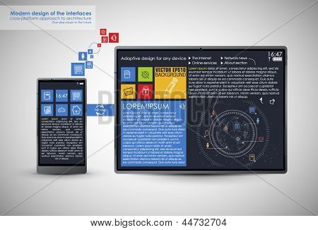 Realistic Smart Phone and pad Template