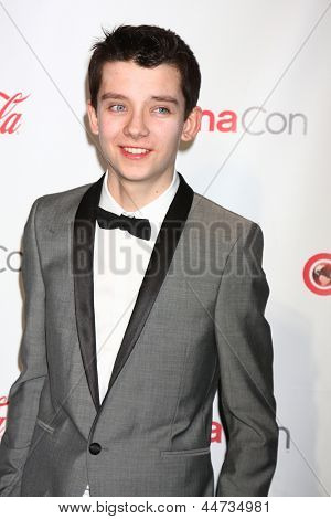 LAS VEGAS - APR 18:  Asa Butterfield in the CinemaCon Big Scrren Achievement Awards  press room at the Caesars Palace on April 18, 2013 in Las Vegas, NV