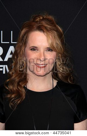 "LOS ANGELES - APR 16:  Lea Thompson arrives at the ""Call Me Crazy: A Five Film"" Premiere at the Pacific Design Center on April 16, 2013 in West Hollywood, CA"